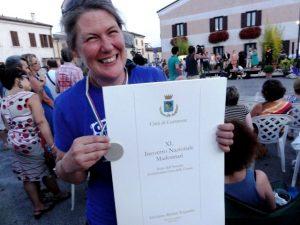 Jenny McCracken in Grazie di Curtone, Italy