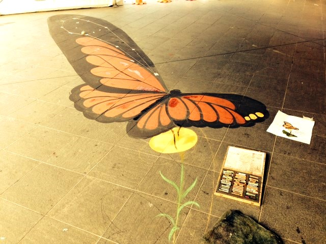 Blacktown-City-Festival-chalk-art-butterfly-Zest-Events-3