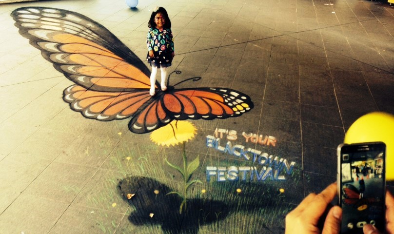 Blacktown-City-Festival-chalk-art-butterfly-Zest-Events-4