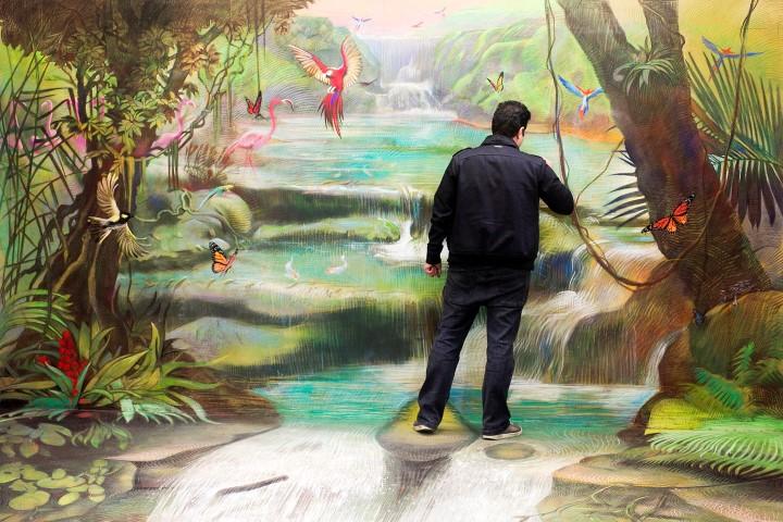 rainforest mural