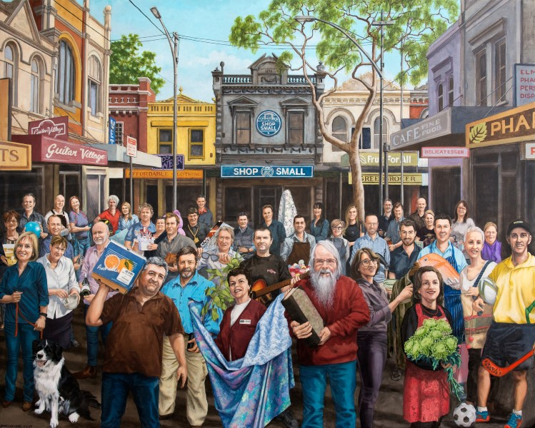 Painting of 40 Australian small business owners