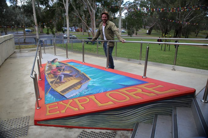 Rudy Kistler 3D artwork at Benalla Library