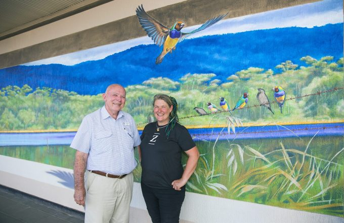 3D mural by Jenny McCracken for Mareeba Arts Festival