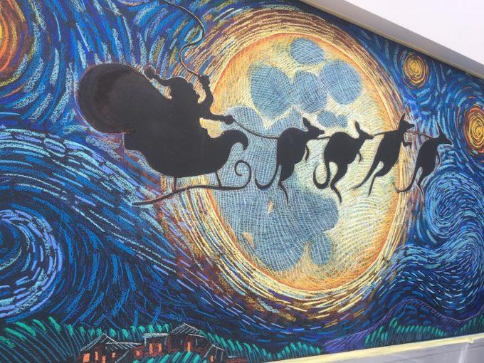 Christmas Chalk Mural by Rudy Kistler