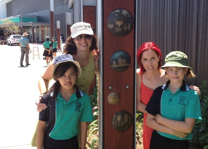 Students enhance Stockland Townsville with their art