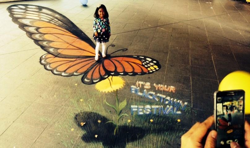 Blacktown-City-Festival-chalk-art-butterfly-Zest-Events-4