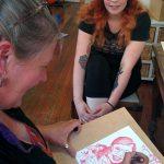 Jenny McCracken drawing 'Dream Portrait'