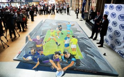 Giant 3D artwork celebrates Fox Sports' NRL finals launch for 2016