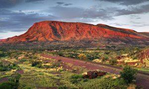 A red mountain in Western Australia. Mount Nameless, Tom Price.