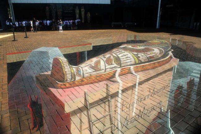 Egyptian mummy at Powerhouse Museum