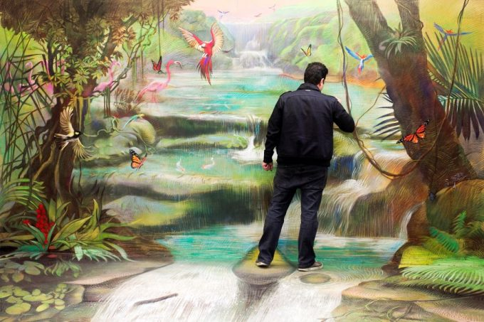 Rainforest Mural by Anton Pulvirenti