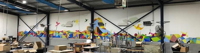 New Horizons workshop mural Anton Pulvirenti