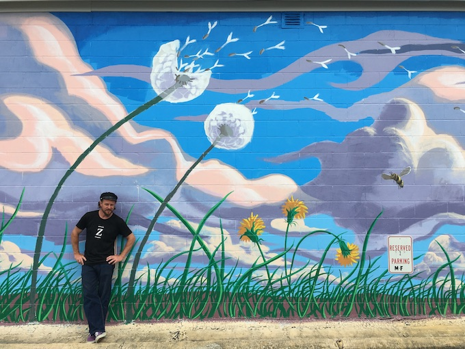 Flight of the bumblebees mural by Rudy Kistler