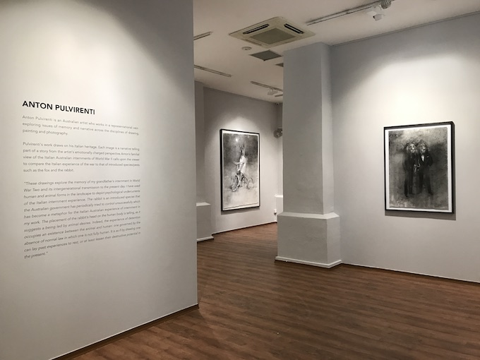 Anton Pulvirenti special exhibition charcoal drawings