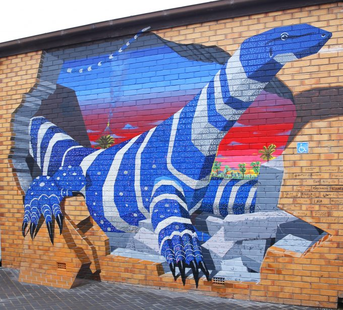 3D mural in Forbes created by local youth and Anton Pulvirenti