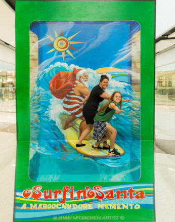 Surfin Santa by Jenny McCracken for Maroochydore Homemaker Centre