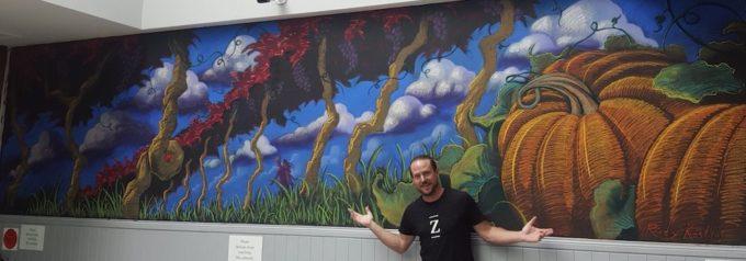 Autumn Chalk Mural by Rudy Kistler