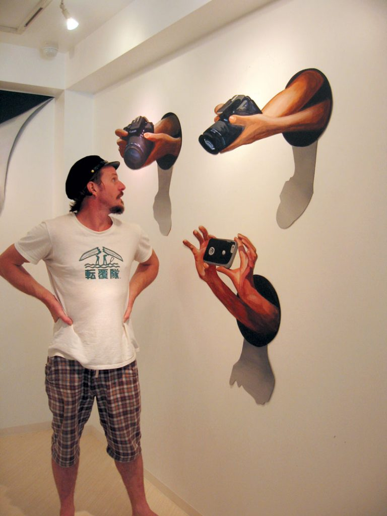 3D Anamorphic Mural Paparazzi Rudy Kistler Zest Events International Paparazzi