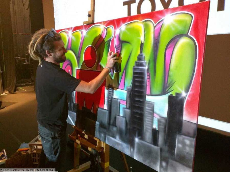 Graffiti Live Art Ironman Zest Events