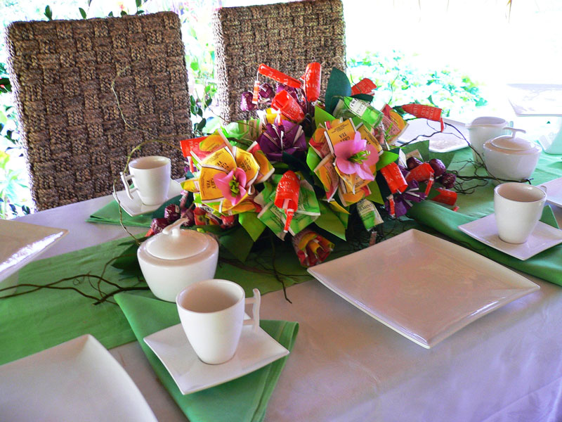 Event Management Twinings High Tea Origami Flowers High Tea Zest Events International