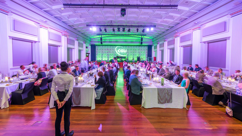 Gala Dinner Black and White Theme Brisbane City Hall Zest Events International