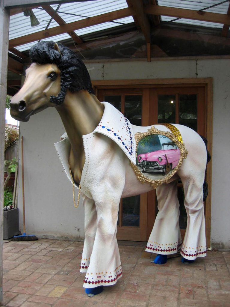 Painted Elvis Horse Sculpture Jenny McCracken Zest Events International