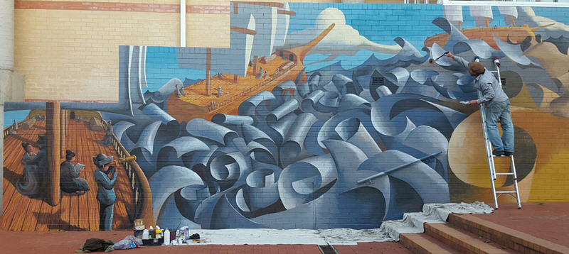 Rudy Kistler Goulburn Caroline Chisolm Mural Leftside Zest Events International