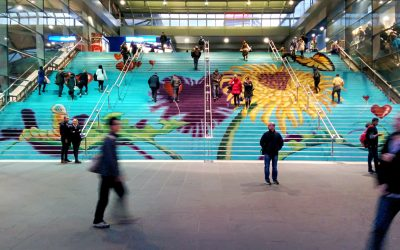Stair Art for the National Heart Foundation & City of Melbourne