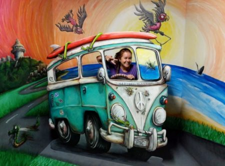 Beach Kombi 3D illusion with Artist MealieB