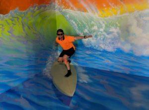 3D surfboard illusion by Anton Pulvirenti