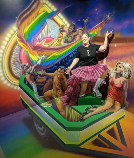 Mardi Gras 3D illusion at Trick Pic