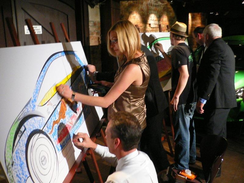 event guests chalk art mazda2