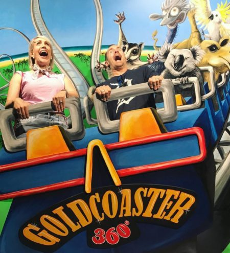 3D rollercoaster illusion at Trick Pic