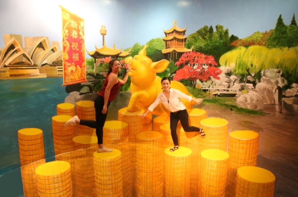 3d mural Chinese Year of the Pig