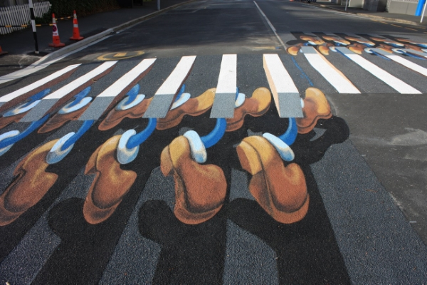 3d pedestrian crossing, Dunedin NZ