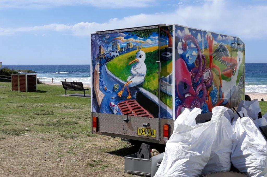 waste trailer wrap