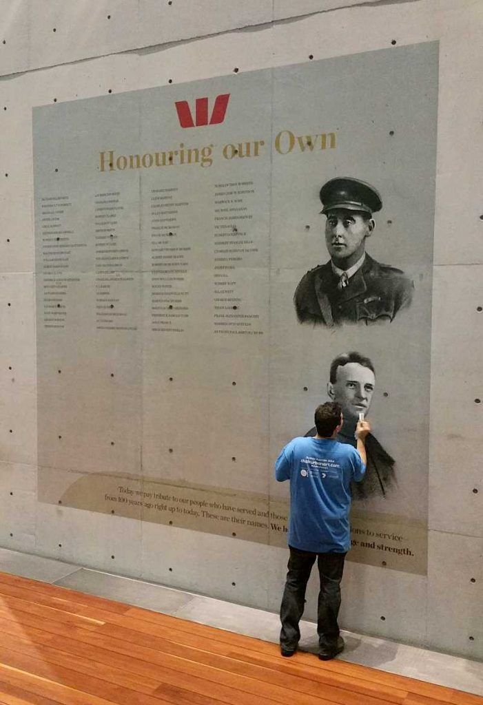 ANZAC wall of honour