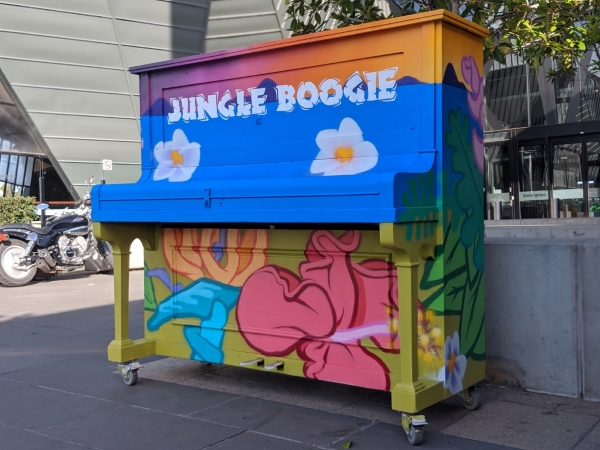 Jungle Boogie, painted piano