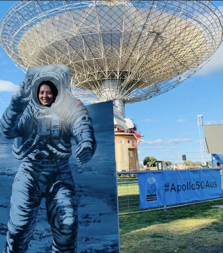 Astronaut Posing Board at Moon Landing Anniversary Open Day @jennythesunny