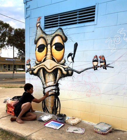 A splash of colour brings a smile to Brewarrina