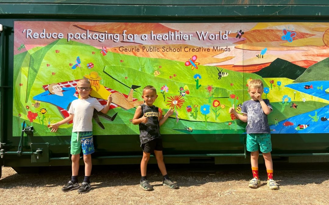 Council transforms bins to billboards for waste education