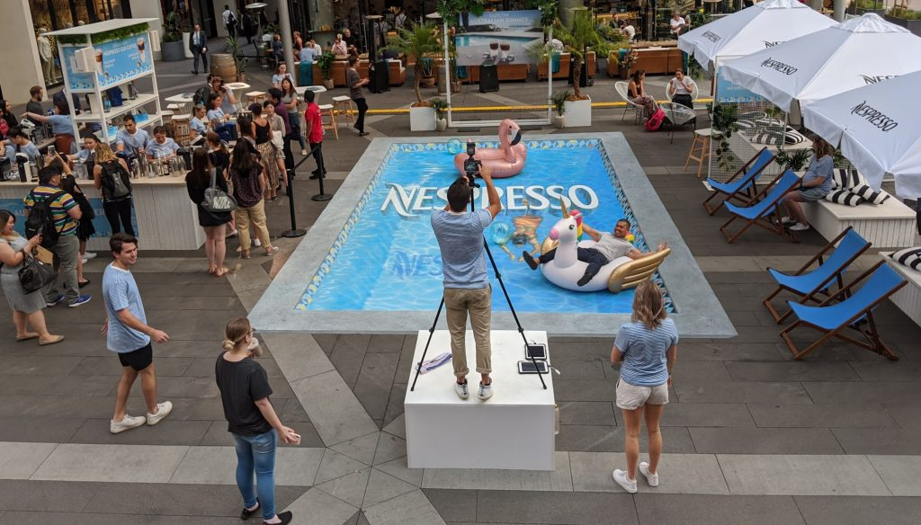 3d swimming pool nespresso