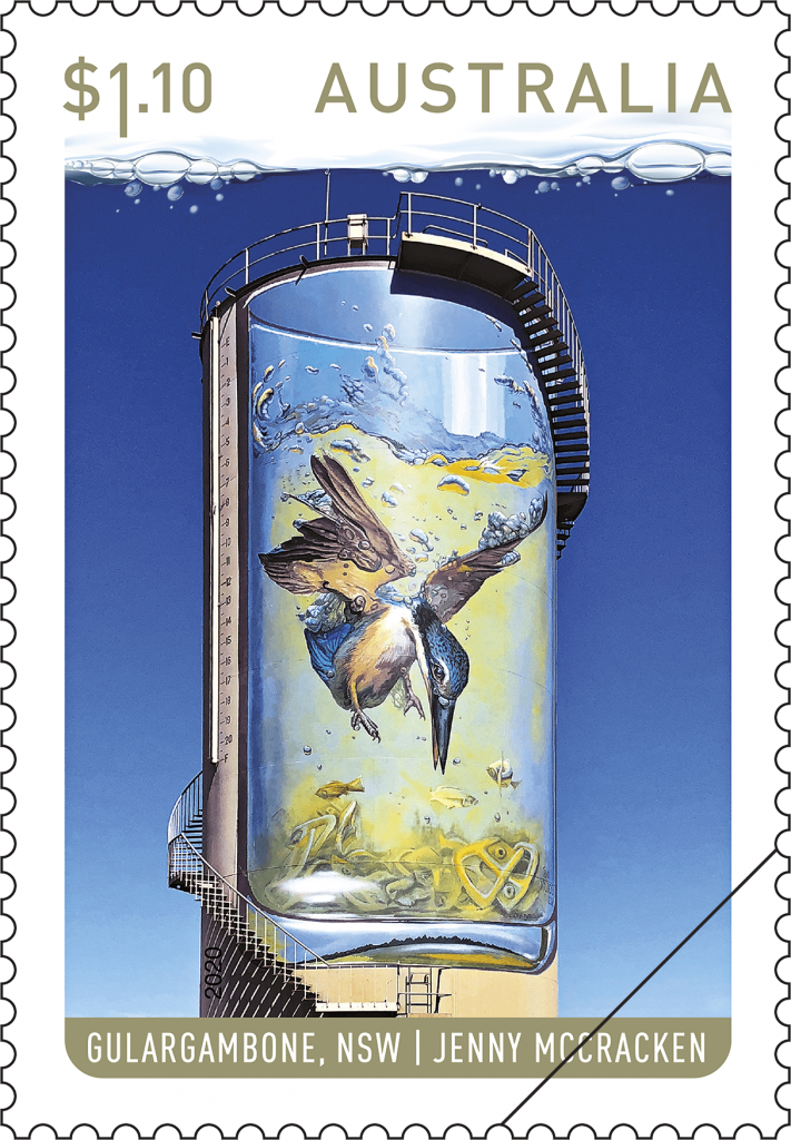 kingfisher water tower art