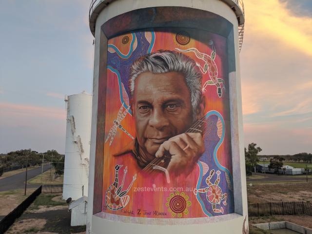 Jimmy Little Sings on Australian Silo Art Trail