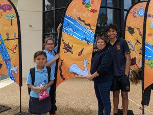 aboriginal flag art in Narrabri